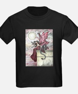 Restless Ruby Fairy and Dragon Illustratio T-Shirt