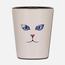 Blue Eyes Space Cat Shot Glass