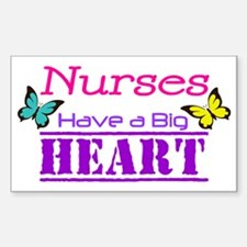 Nurses Have a Big Heart Decal