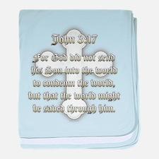 John 3:17 baby blanket