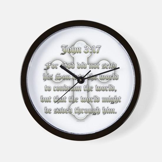 John 3:17 Wall Clock