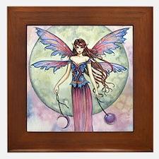 Luna Jewel Celestial Fairy Fantasy Art Framed Tile