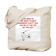 racquetball joke Tote Bag