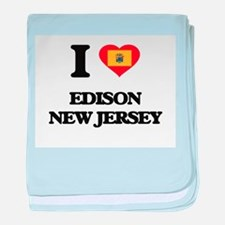 I love Edison New Jersey baby blanket