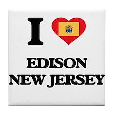 I love Edison New Jersey Tile Coaster
