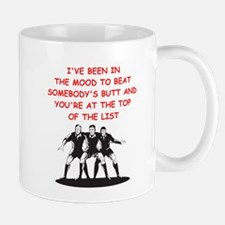 a funny rugby joke on gifts and t-shirt Mug