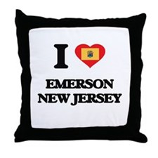 I love Emerson New Jersey Throw Pillow