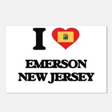 I love Emerson New Jersey Postcards (Package of 8)