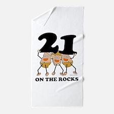 21 on the Rocks Beach Towel