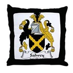 Salwey Family Crest Throw Pillow