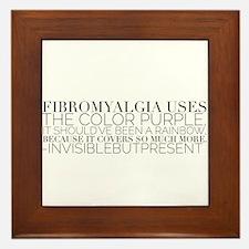 Fibromyalgia colors© Framed Tile