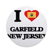 I love Garfield New Jersey Ornament (Round)