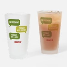 Knocked Up Pregnant Drinking Glass