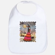 A Halloween Stroll Witch and Black Cats Fantas Bib