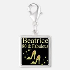 80TH BIRTHDAY Silver Square Charm