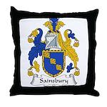 Sainsbury Family Crest Throw Pillow