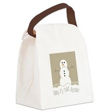 Cold Outside Canvas Lunch Bag