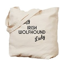Crazy Irish Wolfhound Lady Tote Bag