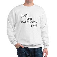 Crazy Irish Wolfhound Lady Sweatshirt