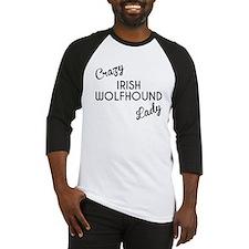Crazy Irish Wolfhound Lady Baseball Jersey