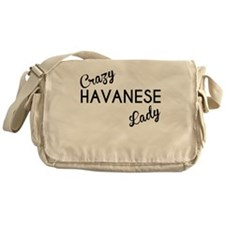 Crazy Havanese Lady Messenger Bag