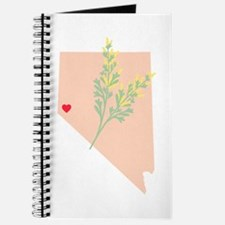 Nevada State Outline Sagebrush Flower Journal