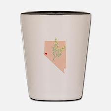 Nevada State Outline Sagebrush Flower Shot Glass