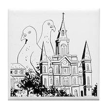 Laissez Les Pigeonnes Rouler Tile Coaster