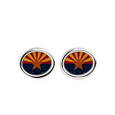 Arizona State Flag VINTAGE Oval Cufflinks