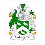 Sadington Family Crest Small Poster