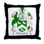 Sadington Family Crest Throw Pillow