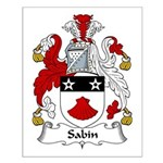 Sabin Family Crest Small Poster