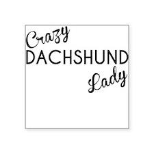 Crazy Dachshund Lady Sticker