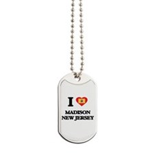 I love Madison New Jersey Dog Tags
