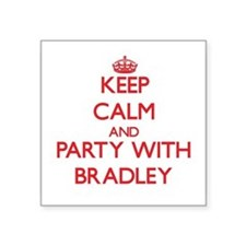 "Cool Bradley Square Sticker 3"" x 3"""