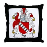 Rye Family Crest Throw Pillow
