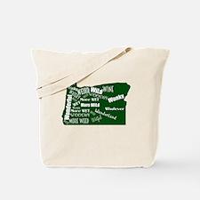 Weird Map of Oregon Tote Bag