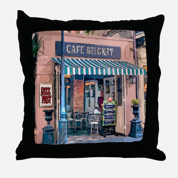 Cute Cafe du monde new orleans Throw Pillow