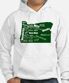 Oregon Fan Map Hoodie