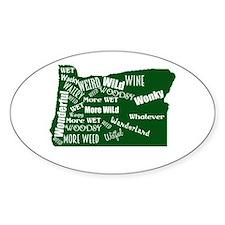 Oregon Fan Map Decal