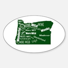 Oregon Fan Map Decal