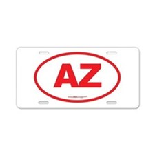 Arizona AZ Euro Oval Aluminum License Plate