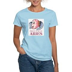 Proud To Be An Aries Women's Pink T-Shirt