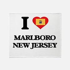 I love Marlboro New Jersey Throw Blanket