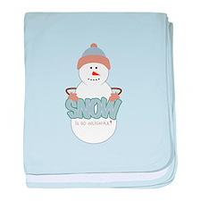 Snow Is Dellightful baby blanket