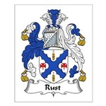 Rust Family Crest Small Poster