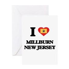 I love Millburn New Jersey Greeting Cards
