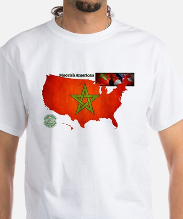 Moorish American T-Shirt With Great Seal On Back