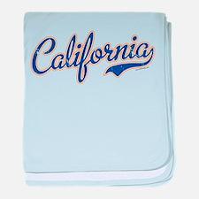 California VINTAGE baby blanket