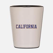 California Jersey Font Shot Glass